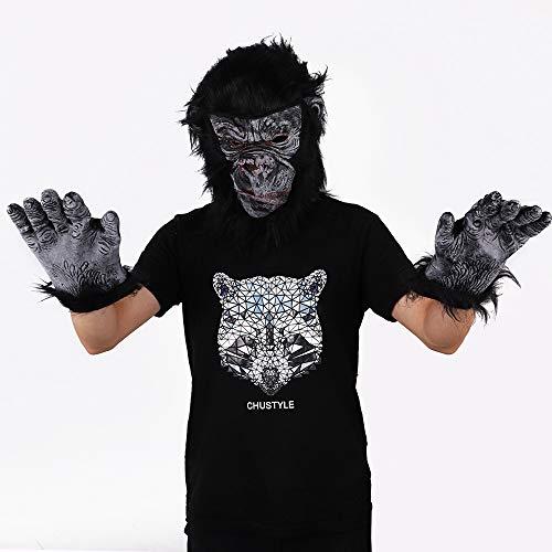 JNTM Halloween Maske Halloween Kostüm Party Tier Kopf Maske Schimpanse Gorilla Schimpanse AFFE Kostüm Für Halloween Party Rollenspiele (Schimpanse Maske Kostüm)