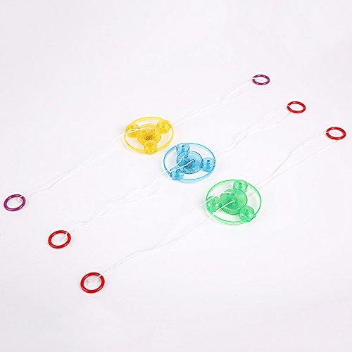 Xiton Hand Pull Luminous Blinkendes Seil Flywheel Spielzeug LED Leuchten Blitz Gyro Spielzeug