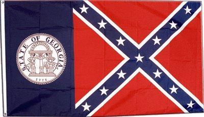 Flagge USA Georgia alt - 90 x 150 cm (Confederate Flag)