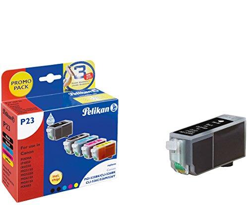 Preisvergleich Produktbild Pelikan Druckpatronen PromoPack PLUS 5+1 P23+C43 ersetzt Canon PGI-525PGBK/CLI-526BK/CLI-526C/CLI-526M/CLI-526Y, 2xBK PIG/BK/C/M/Y