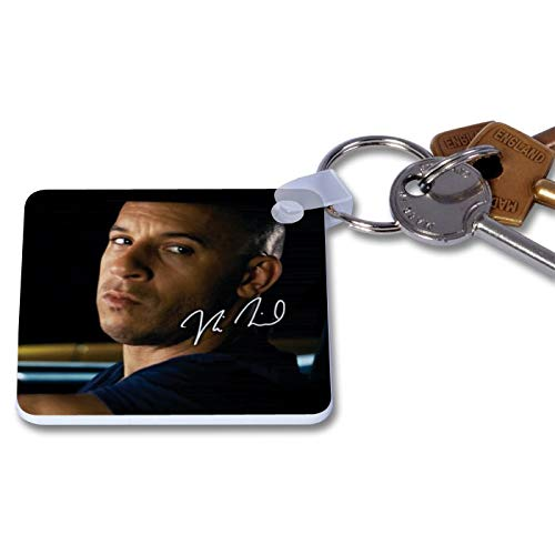 Vin Diesel - Fast & Furious 1 Novelty Keyring Printed Autographed Key Chain