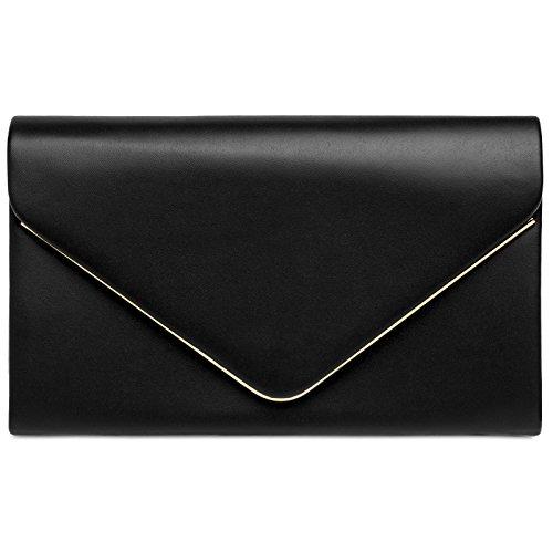 Caspar ta413 donna pochette a busta, colore:nero;dimensioni:one size