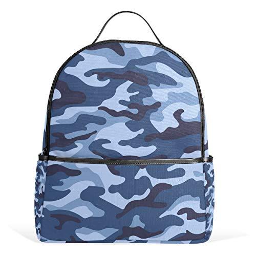 ZKKO Camouflage Armee-Rucksäcke Computer Buch Tasche Reise Wandern Camping Daypack