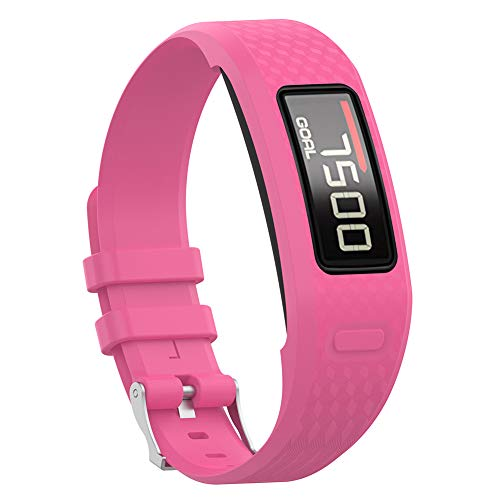 DERKOLY - Correa de Repuesto para Reloj Inteligente Garmin Vivofit 1 2, Rosa