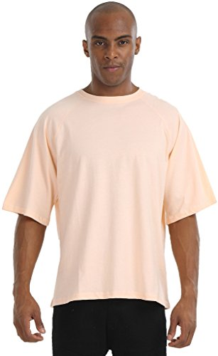 Pizoff Unisex Hip Hop Luxus Raglan T Shirts mit 3/4-Arm orange pink muster army bundeswehr loose fit lässig Y1745-08-M (Vintage Air Army)