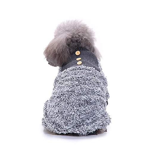 Winnerruby Pijamas para Perros, Pijamas para Perros, Felpa, para Mascotas, Ropa de Dormir, Ropa de Aire Caliente