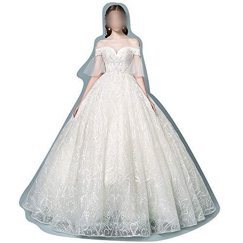 Traum-hochzeitskleid (Rocke Hochzeitskleid Braut Tüll Prinzessin Traum (Farbe : Beige, Size : XL))