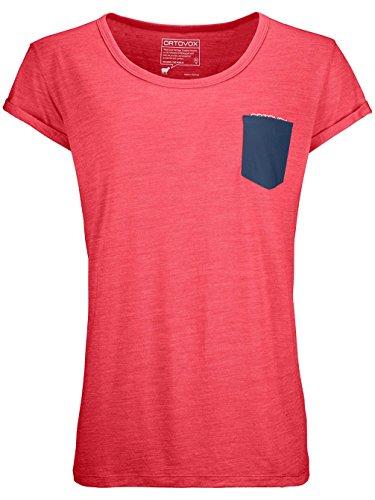 Ortovox Damen 120 Cool Tec T-Shirt, Hot Coral Blend, L -