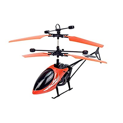 Flying Mini RC Infraed Induction Helicopter Aircraft Flashing Light Toys model airplane aircraft Indoor/Outdoor RC Helicopter Toy RC Parts & Accs Gifts for Kids Peripherals/Devices