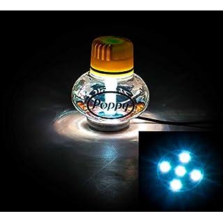 Lufterfrischer Poppy mit LED Multicolor-Beleuchtung, 7 Farben, schaltbar, 10-30V, Inhalt 150 ml, lieferbar in 7 Duftnoten (Vanille)