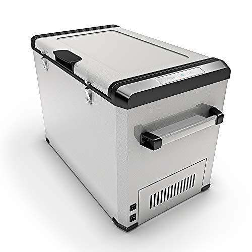 Bluefin Réfrigérateur Congélateur Portable à Compression (24/33/42/60/80L) Mini Refroidisseur avec Adaptateur AC/DC   Nourriture, Boissons, Vin   Camping, Voyage, Pique-Nique (60 litres d'argent)