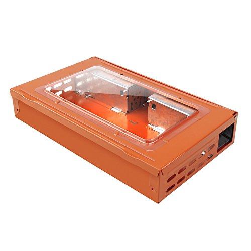 HUX EYE Trampa para ratones,captura múltiple,humano Trampa para ratón con ventana,naranja_MAF5003CLOR