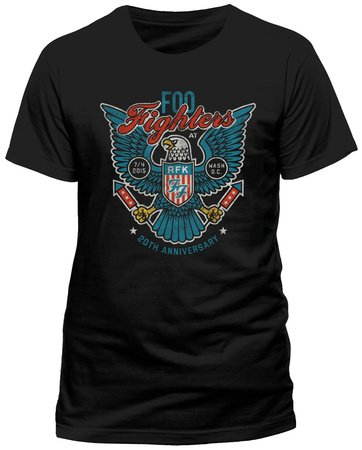 Foo fighters eagle direction dave grohl rock heavy metal tee top t-shirt da uomo da donna unisex black xx-large