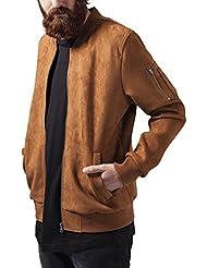 Urban Classics Imitation Suede Bomber Jacket, Blouson Homme