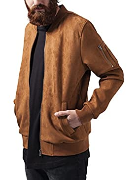Urban Classics Herren Jacke Imitation Suede Bomber Jacket