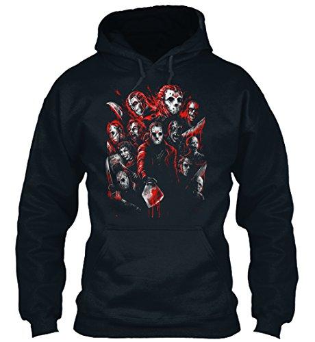 n / Herren / Unisex von Teespring | Originelles Outfit für jeden Anlass und lustige Geschenksidee - JASON VOORHEES (MANY FACES OF) (Jason Voorhees Geburtstag)