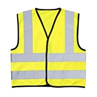 High Visibility (Hi Vis) Childrens Safety Vest Waistcoat Jacket Small