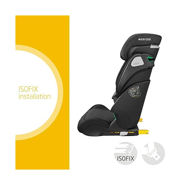 Maxi-Cosi Kore i-Size Child Car Seat, 3.5 - 12 years, 100 - 150 cm, Authentic Black Maxi-Cosi Child car seat, suitable to use from 3.5 to 12 years (approx from 100 cm to 150 cm) ISOFIX installation is possible with this group 2/3 car seat for optimal stability Quick and easy to buckle up: This ISOFIX car seat is designed to enable children to get in and out and buckle up on their own in a few seconds 2