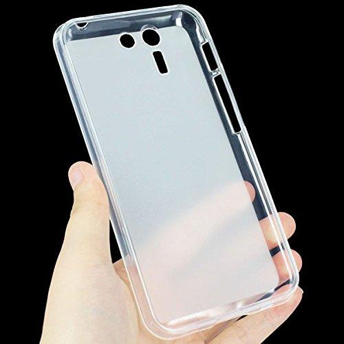 Easbuy TPU Transparent Silikon Tasche Case Etui Cover Hülle für Asus PadFone S X (Weiß)