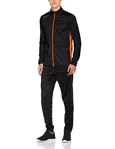 uhlsport Essential Classic Anzug Kinder Trainingsanzug schwarz/Fluo orange, ()