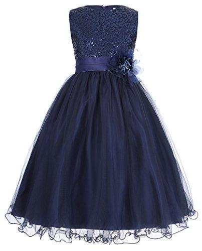 Fashion A-Linie Aermellos Blumenmaedchenkleid Ballkleid Partykleid 2-3 Jahre