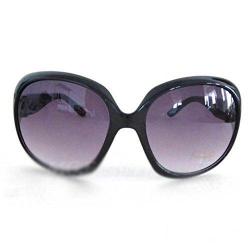 Charmant Frauen Retro Große Rahmen Sonnenbrille Schatten Brille Schwarz