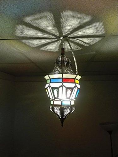Lámpara marroquí a techo Farol Lámpara aplique étnico chic vintage árabe africano Oriental Marruecos 1008
