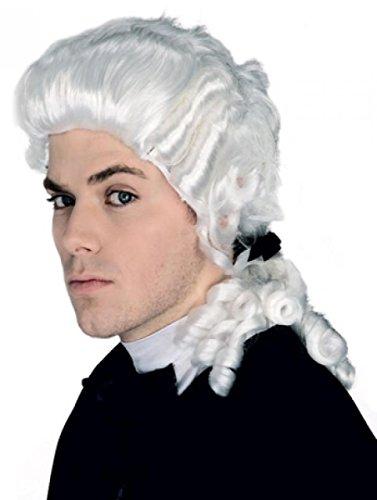 Preisvergleich Produktbild Perücken Herren Mittel Weiß Polyester Lockig Karneval Barock Mittelalter