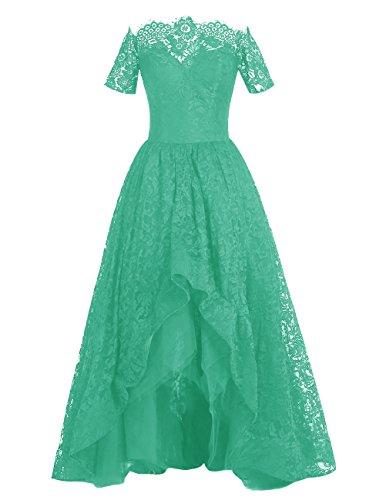 Dresstells Robe de cérémonie Robe de soirée en dentelle longueur ras du sol Vert