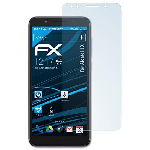atFolix Schutzfolie kompatibel mit Alcatel 1X Folie, ultraklare FX Bildschirmschutzfolie (3X)