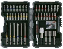 Bosch 2 607 017 164   Pack de 43 puntas de atornillar y llaves de vaso  tipo PH/PZ/SL/H/T/TH