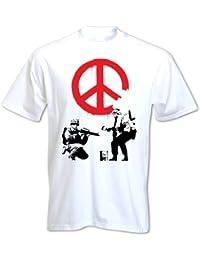 Men's Banksy Peace Soldiers T Shirt