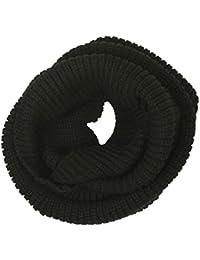 niceeshop(TM) Soft Wool Beautiful and Fashion Classic Knit Infinity Loop Scarf Hood -Black