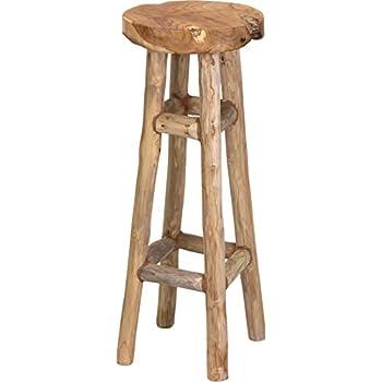 Barhocker teakholz hocker natur 30x30x80 cm sitz stuhl for Barhocker 60 cm hoch