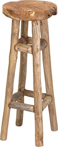 Meinposten Barhocker Teakholz Hocker Natur 30x30x80 cm Sitz Stuhl Hocker hoch