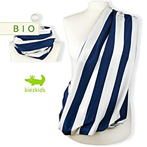 Bio Stillschal/XXL-Loop BUCKOW blau-weiß von kiezkids