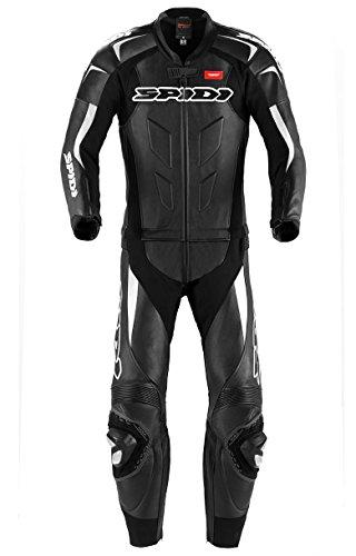 SPIDI Sport S.r.l. (EU) Spidi Motorrad Lederkombi Supersport Touring, Schwarz/Weiss, Größe 56