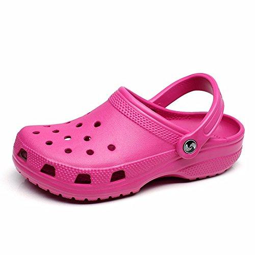 Sommer neuen Jungen europäischen römischen Loch Schuhe Casual Sandalen dicken unteren Sport Strand Schuhe Garten weichen Boden Sandalen Outdoor Schuhe Männer,Rose Pink US=9,UK=8.5,EU=42 2/3,CN=44
