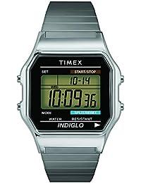 Timex - Homme - T78587 - Timex Original - Quartz Digitale - Noir et Vert - Argent - Acier Inoxydable