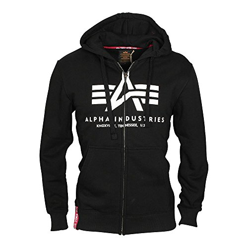 Alpha Industries Herren Oberteile / Zip Hoodie Basic Black