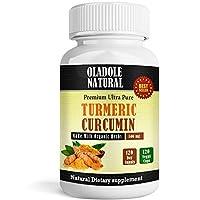 Oladole Naturals Turmeric Curcumin 500 mg, 120 Capsules