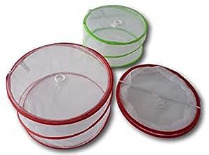MQ 2 x Pop-Up Fliegenhaube Speisen-Haube Abdeckung Lebensmittel Kuchenabdeckung Fliegennetz
