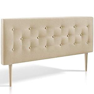 Marckonfort – Oslo Kopfteil für Bett 140 X 100 X 8 cm, gepolstert in beige geröstet