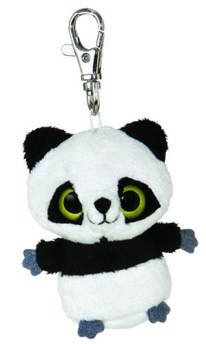 Aurora World 12549 - Yoohoo and Friends Ring Panda Mini Schlüsselanhänger, 3 Zoll
