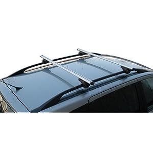 Menabo max. 90 kg Coppia Barre da Tetto Completa per Auto con Rails Rialzati 17 spesavip