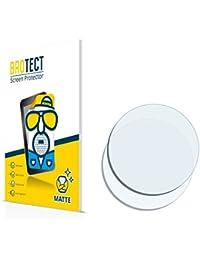 2x BROTECT Matte Protector Pantalla para Relojes (circular, Diámetro: 17mm) Protector Mate, Película Antireflejos