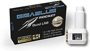 Gigablue Rocket Quad Lnb Multi Feed 40 Mm Feed 0 1db Elektronik
