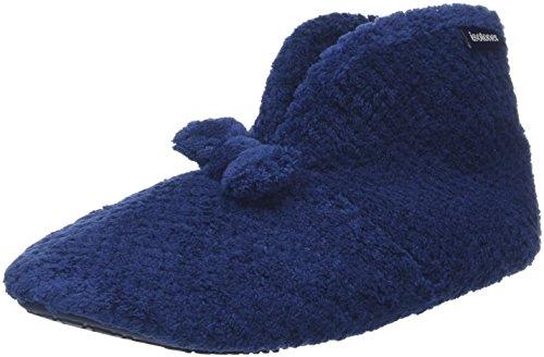 isotoner-popcorn-bootie-chaussons-femme-bleu-navy-40-eu-7-uk