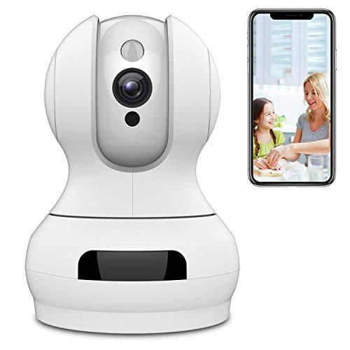 WLAN IP Kamera,Sailnovo 720P HD WiFi Cloud Überwachungskamera,Zwei-Wege-Audio,Baby & Home Monitor mit Bewegungserkennung,10m Infrarot Nachtsicht,unterstützt Fernalarm und Mobile App Kontrolle Ethernet Port Ir Remote