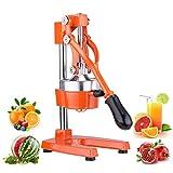 CO-Z Spremiagrumi Manuale per Uso Professionale Spremi Melograno Arancio Limoni Spremiagrumi a Leva Acciaio (Arancione)